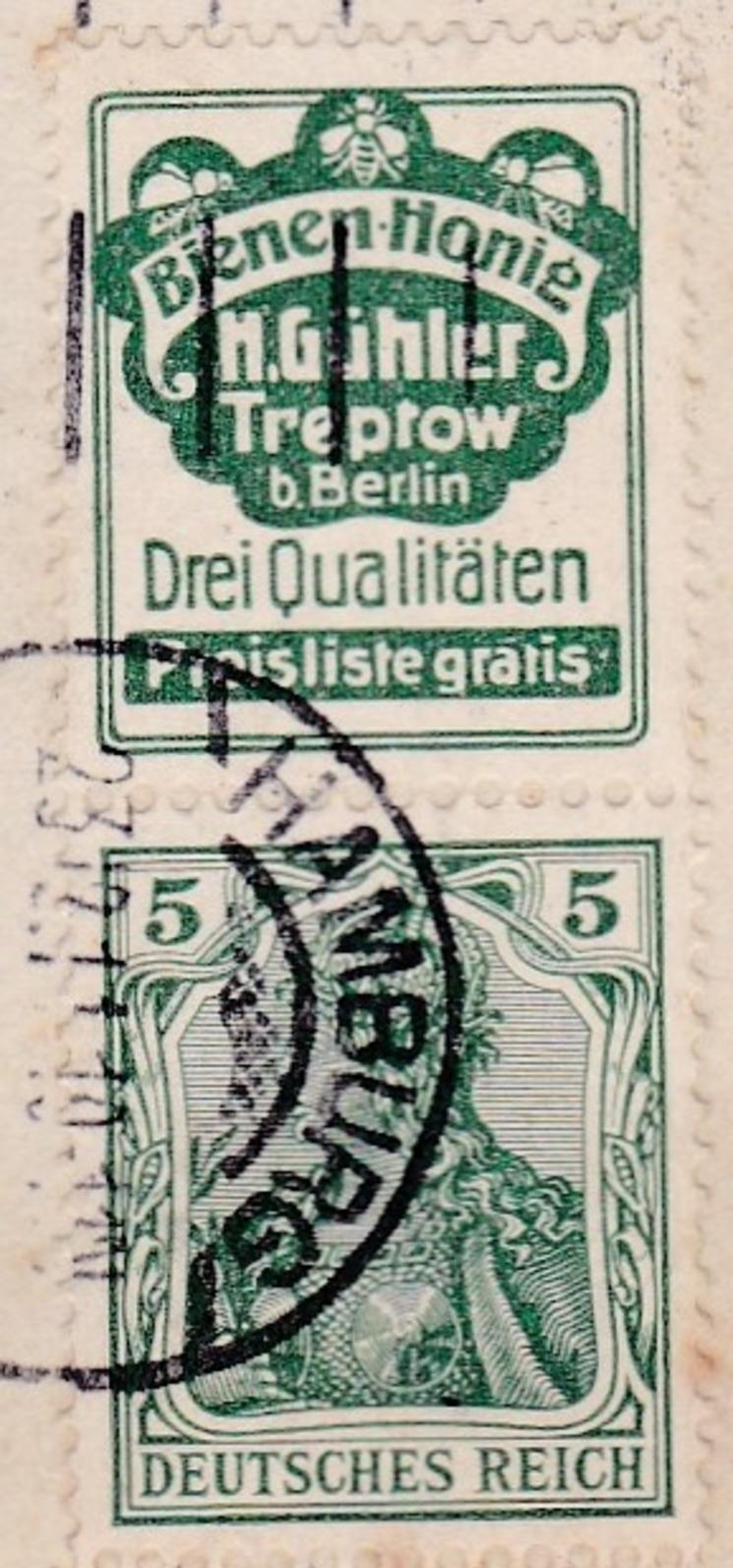 ALLEMAGNE  GERMANIA  83  AVEC  INSCRIPTION  SUR  LA  BANDE  .  (  3  SCANS R° V°  )  . - Allemagne