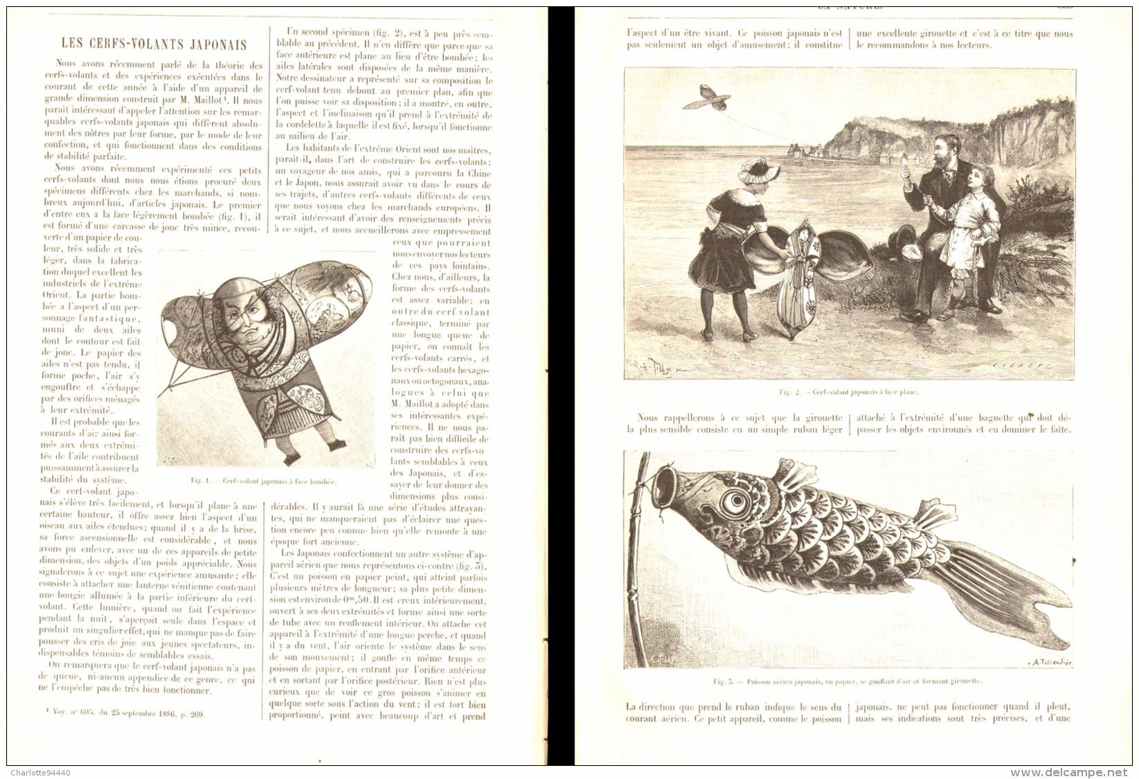 LES CERF-VOLANTS JAPONAIS 1887 - Other Collections