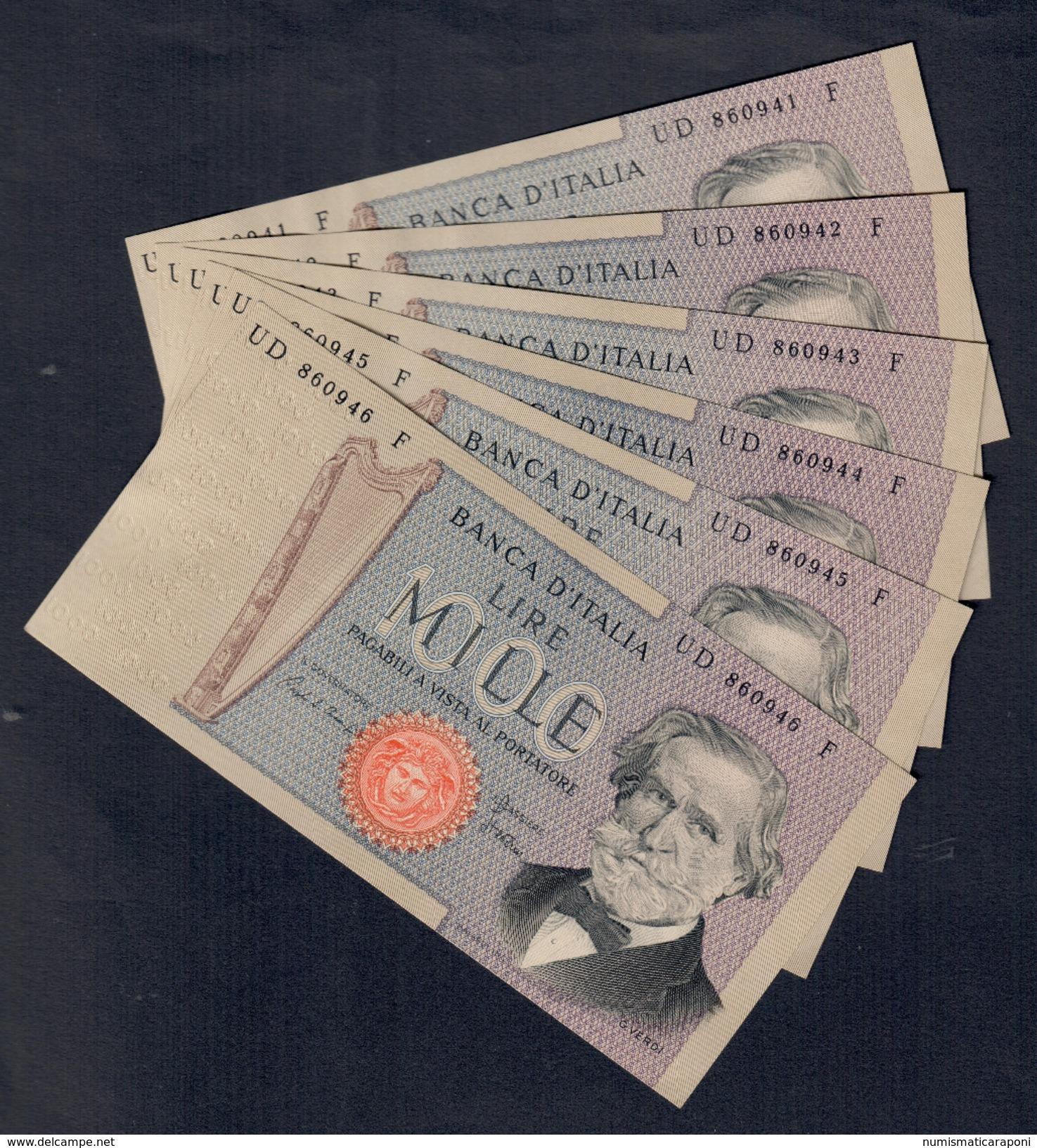 1000 Lire Verdi II° Tipo 20 02 1980 Sup 6 Consecutivi Da Mazzetta Ma Non Perfetti   LOTTO 1679 - 1000 Lire