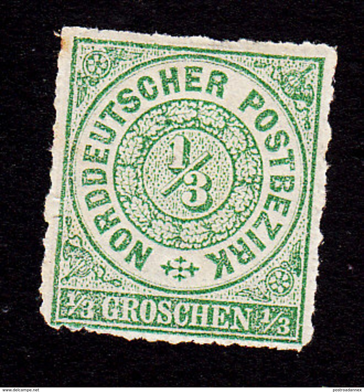North German Confederation, Scott #2, Mint Hinged, Number, Issued 1868 - North German Conf.