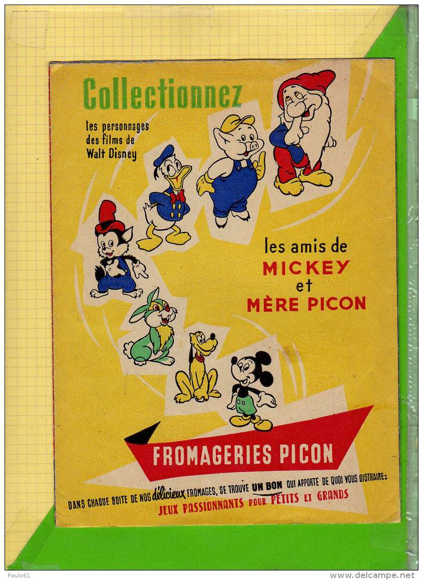 PROTEGE CAHIER : Mere PICON  Fromage Delicieux  Les Amis De Mickey - Protège-cahiers