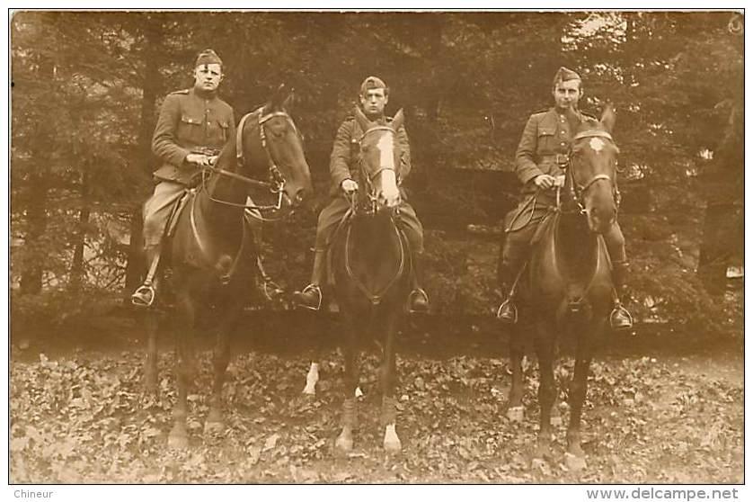 BELGIQUE CARTE PHOTO MILITAIRES A CHEVAL AU CAMP D'ELSENBORN LE 22 MAI 1926 - Elsenborn (camp)