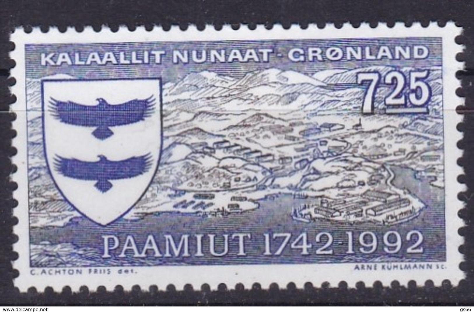 1992,  Grönland, 225, 250 Jahre Paamiut  , MNH ** - Groenland