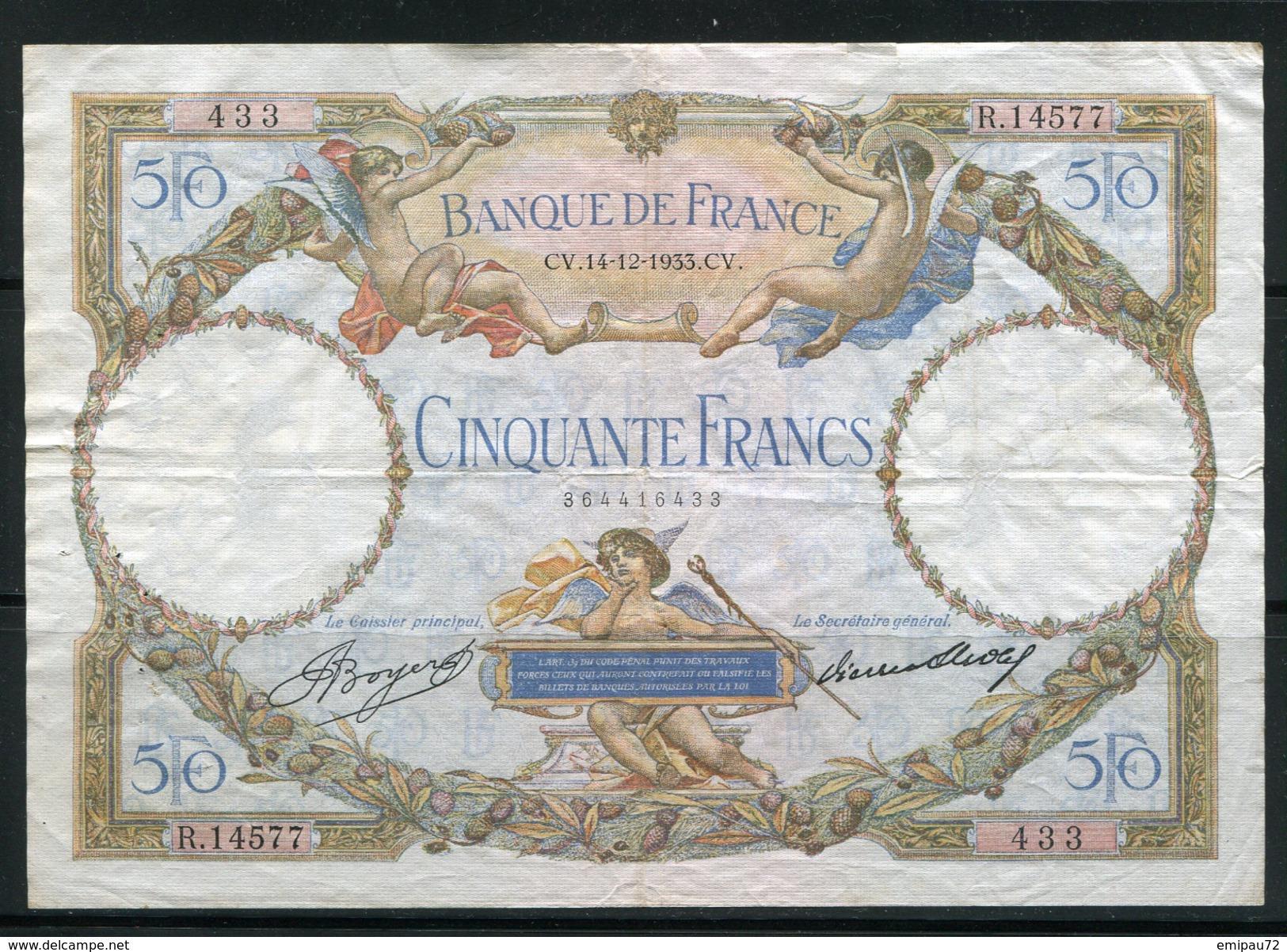 FRANCE- Vieux Billet (très Bon état) - 50 F 1927-1934 ''Luc Olivier Merson''