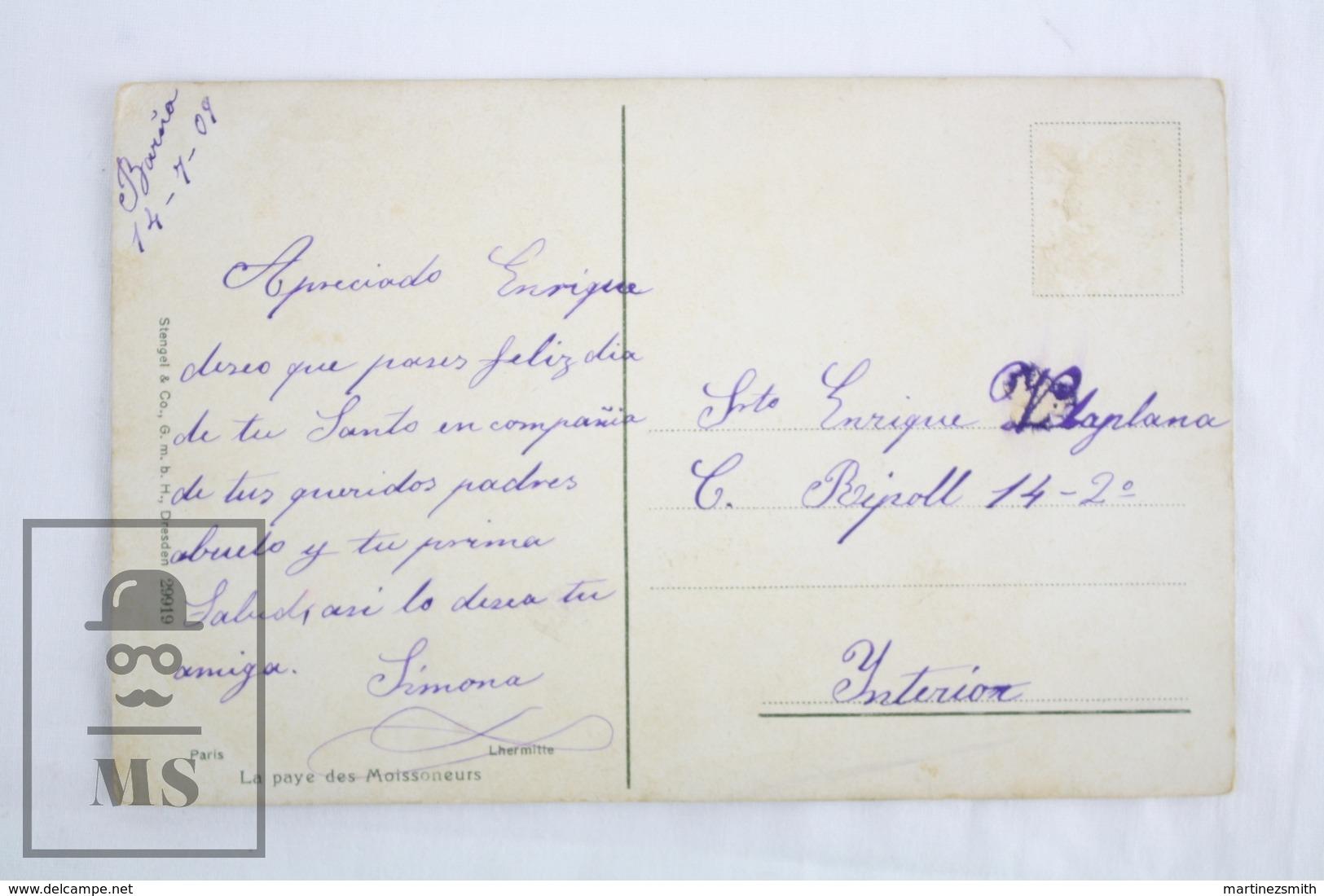 Old 1909 Illustrated Postcard - Paris - Lhermitte - La Paye Des Moissoneurs - Museos