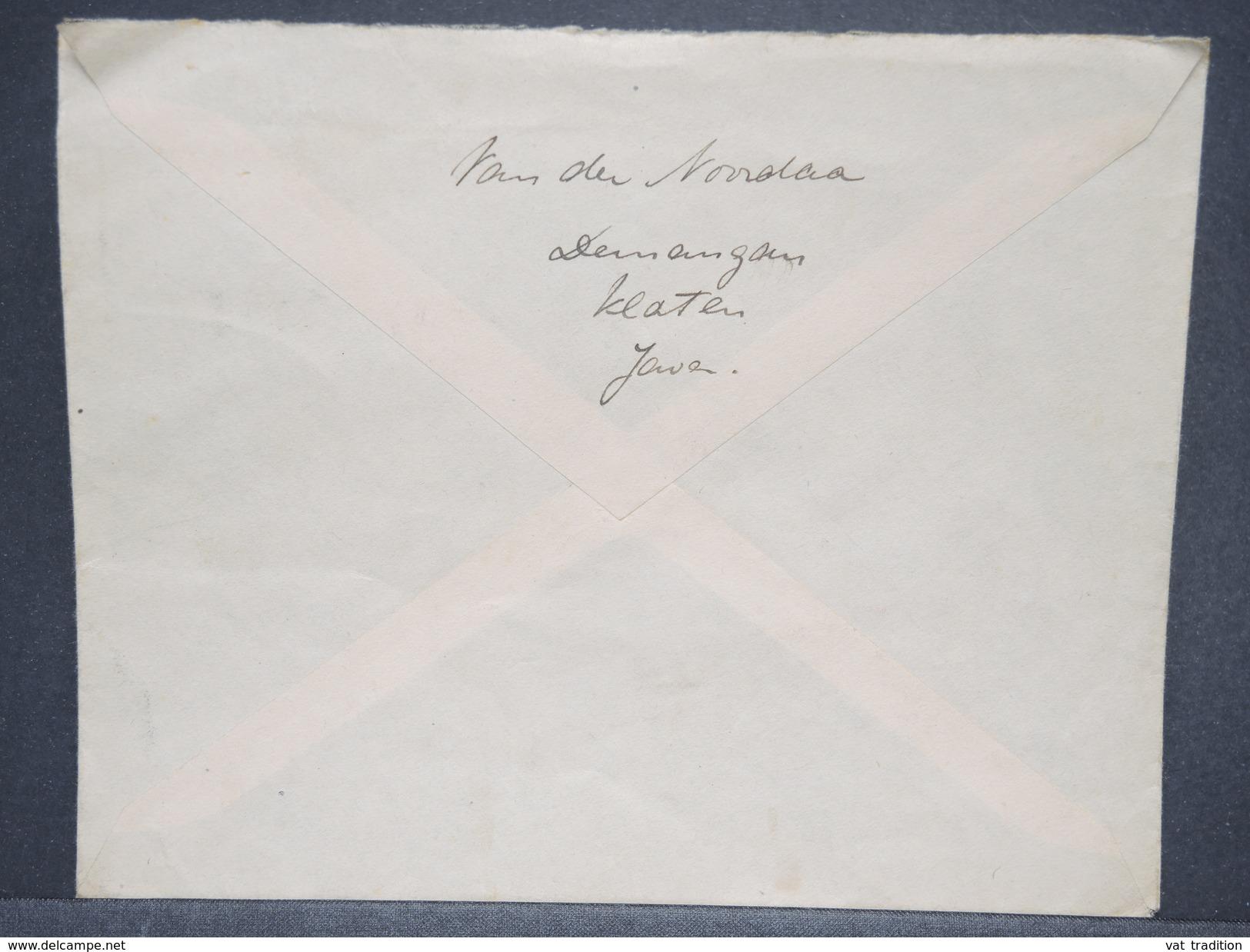 PAYS BAS - Enveloppe En Recommandé De Klaten  Pour Belfort En 1933 , Affranchissement Et Oblitération Plaisants - L 6356 - Indes Néerlandaises