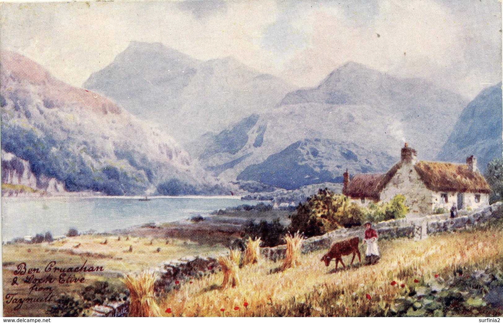 TUCKS OILETTE 7683 - HENRY WIMBUSH - LOCH ETIVE SERIES - BEN CRUACHAN - Argyllshire