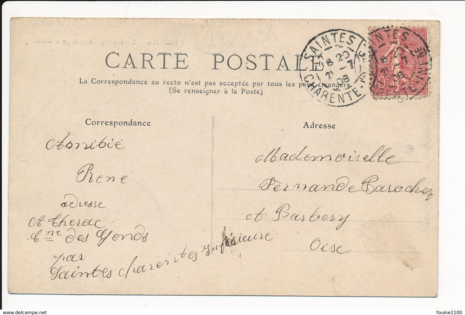 Carte De Saintes Le Haras Attelage D' étalons    ( Recto Verso ) - Saintes