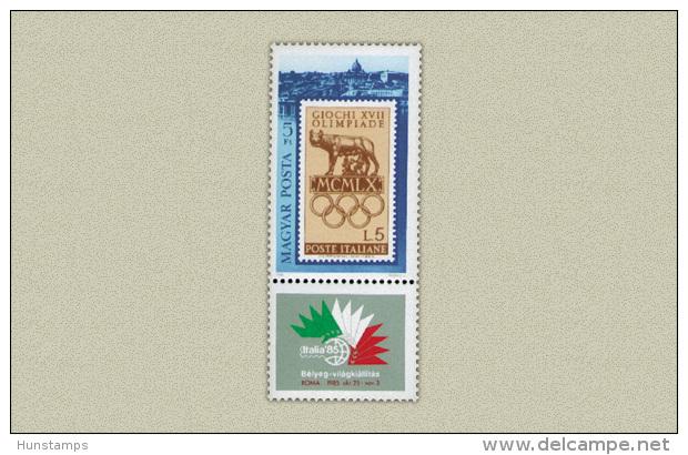 Hungary 1985. Italia Segmental Stamp MNH (**) Michel: 3786 / 1.50 EUR - Ungebraucht