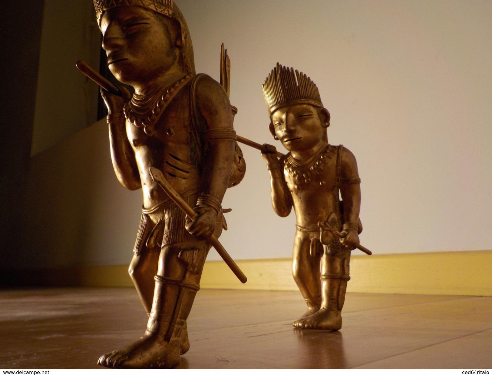 CULTURE TAIRONA (TAYRONA), SCENE DE CHASSE, PRECOLOMBIEN, CIRE PERDUE, TUMBAGA SIERRA NEVADA ,SANTA-MARTA, COLOMBIA - Archaeology