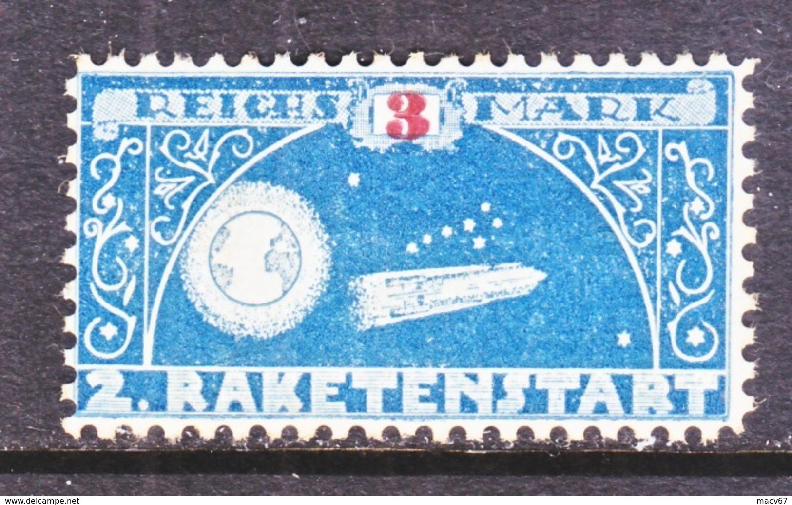 GERMANY  ZUCKER  ROCKET  MAIL  7 C    * - Airmail