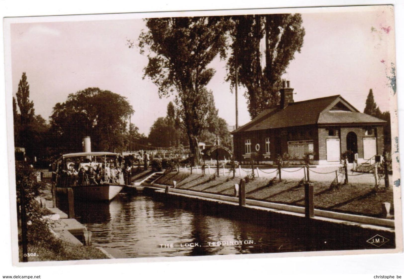 Old Postcard, The Lock Teddington (pk32746) - London Suburbs