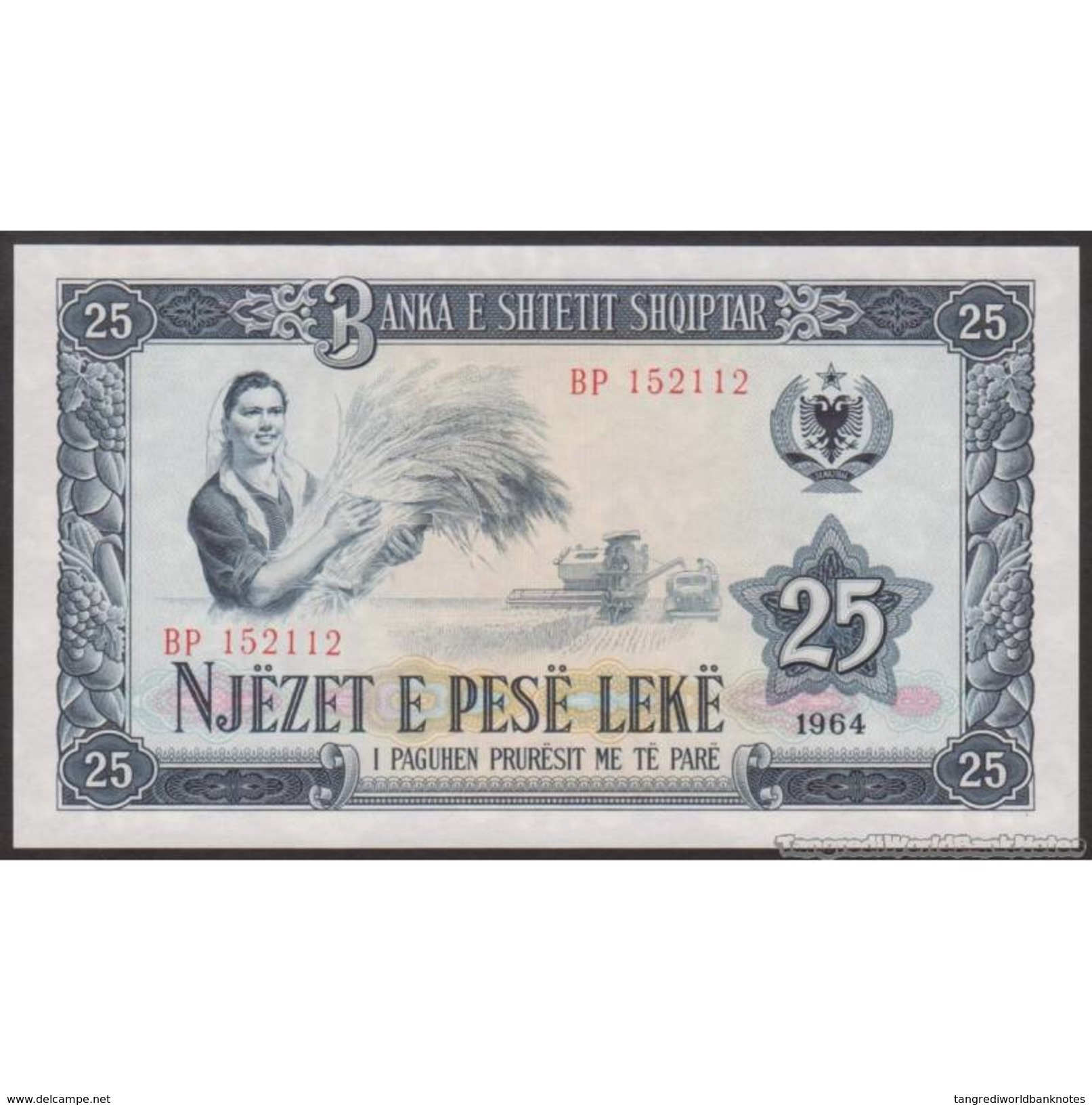 TWN - ALBANIA 37a - 25 Leke 1964 Prefix BP UNC - Albania