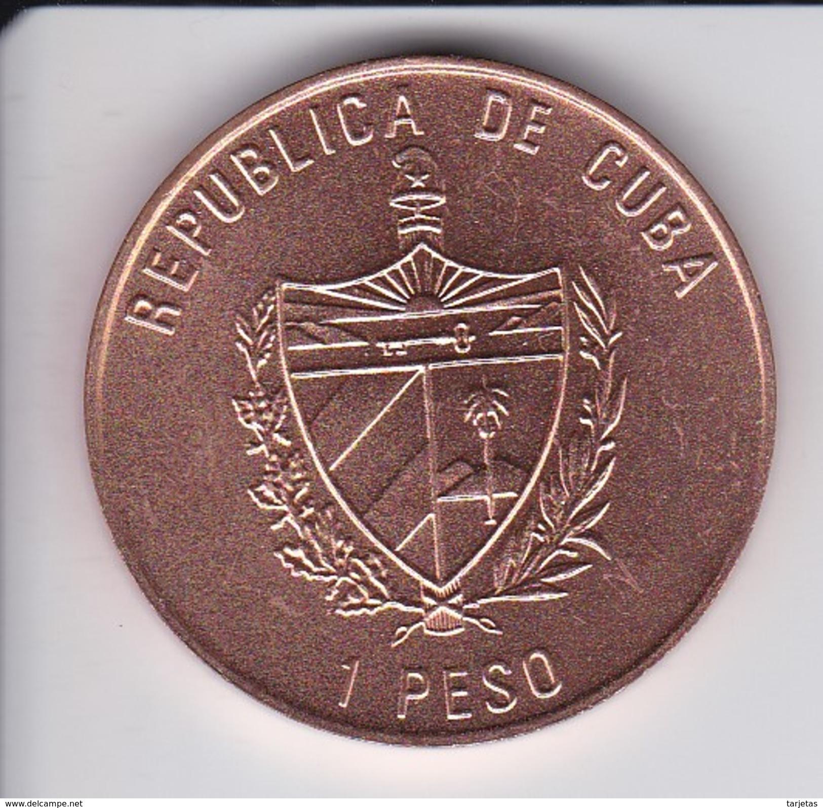 MONEDA DE CUBA DE 1 PESO DEL AÑO 1989 DE ALEJANDRO DE HUMBOLDT (COIN) SIN CIRCULAR-UNCIRCULATED - Cuba