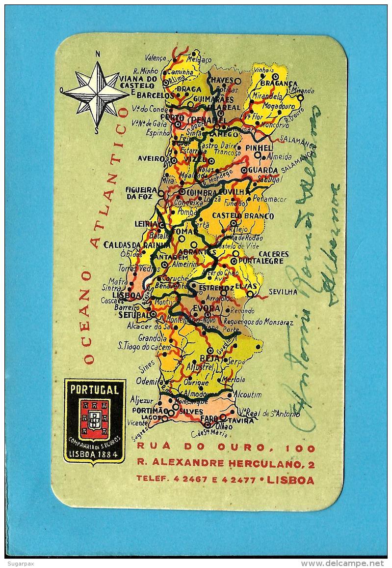"""COMPANHIA De SEGUROS """" PORTUGAL """" - 1954  - Agente Em ALBERNOA - Pocket Calendar - Calendriers"""