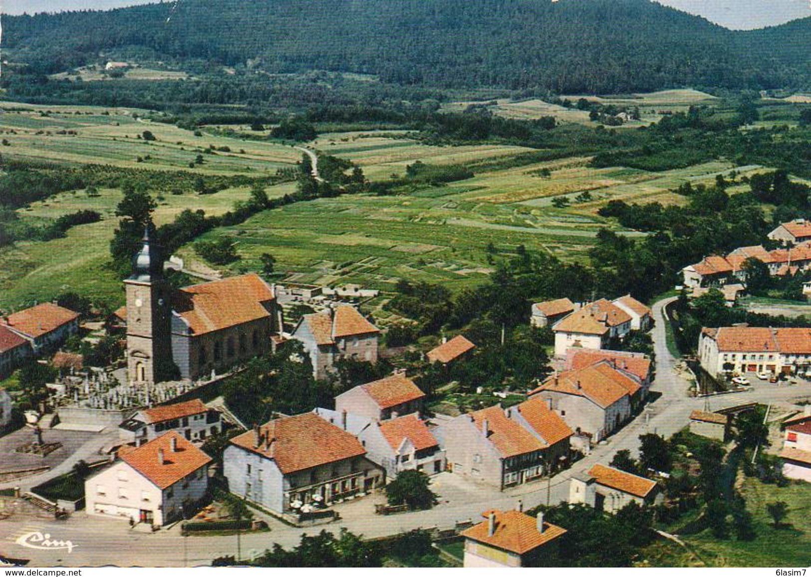 CPSM Dentelée - COLROY-la-GRANDE (88) - Vue Aérienne Du Quartier De L'Eglise En 1972 - Colroy La Grande