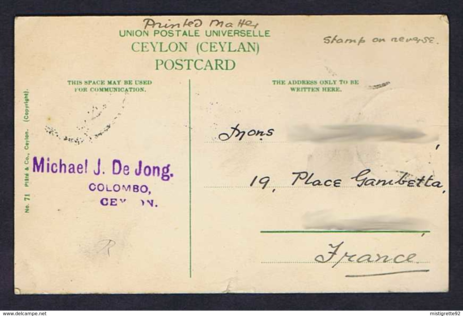 SRI LANKA (Ceylon, Ceylan) Veddahs Or Wild Men 1912. Colombo. Hommes, Arcs. - Sri Lanka (Ceylon)