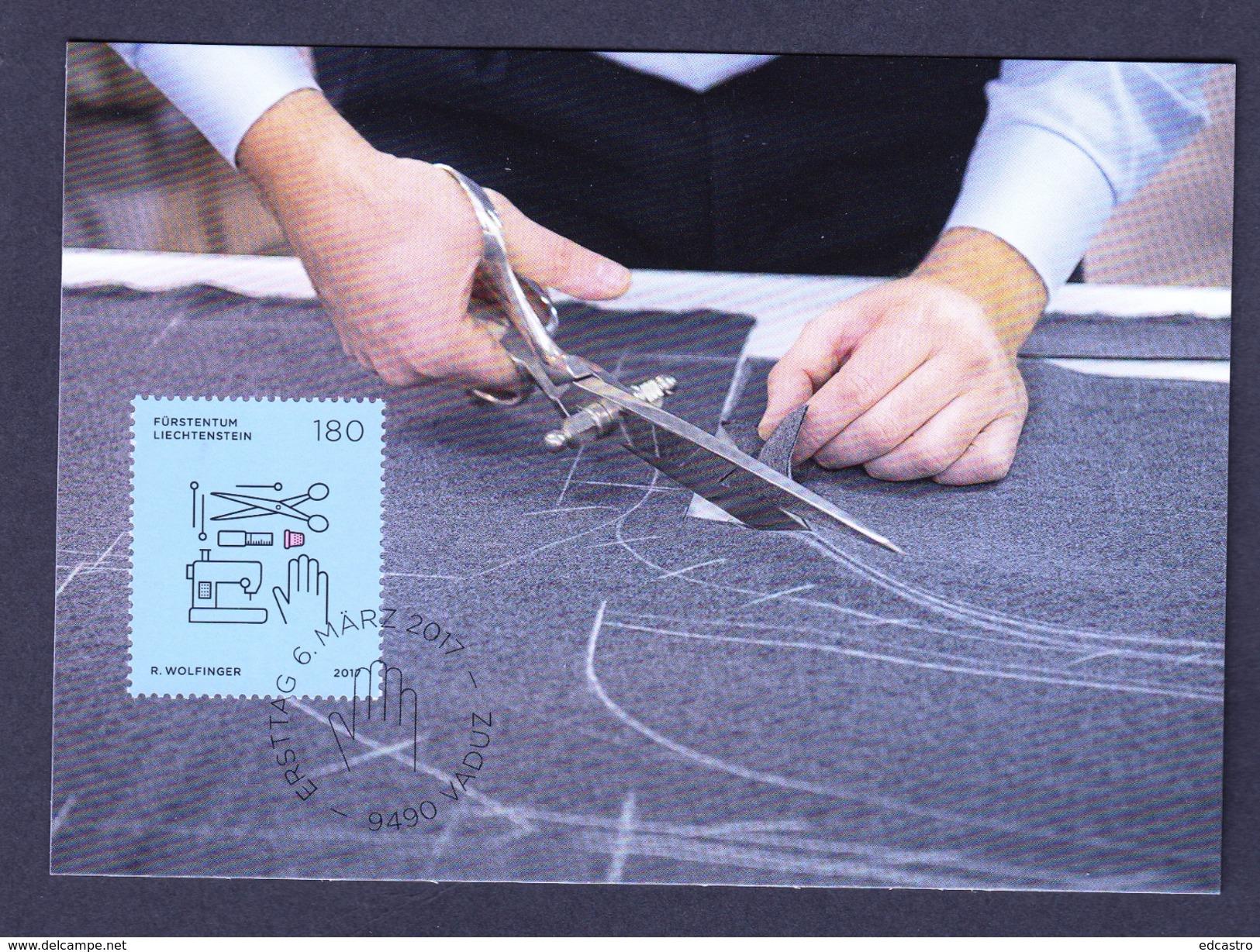 LIECHTENSTEIN 2017 MAXIMUM CARD. SEPAC 2017 - Trades And Crafts  CUTTER - Profesiones