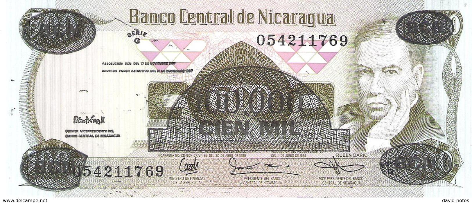 Nicaragua - Pick 149 - 100.000 (100000) = 500 Cordobas 1985 - AUnc - Nicaragua