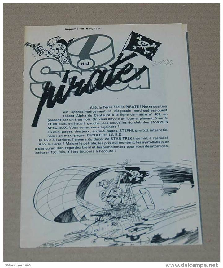 Supplément Spirou Du N° 2190 Supplément Spirou Pirate (4) 4 Grandes Pages Dépliable - Spirou Magazine