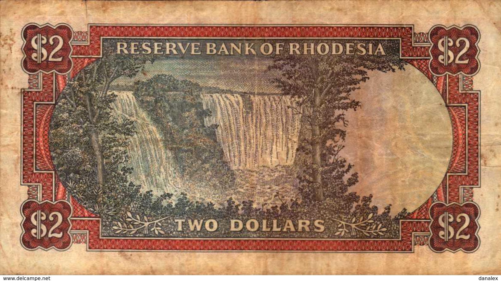 RHODESIE  2 DOLLARS  Du 24-5-1979  Pick 31d   RARE - Rhodésie