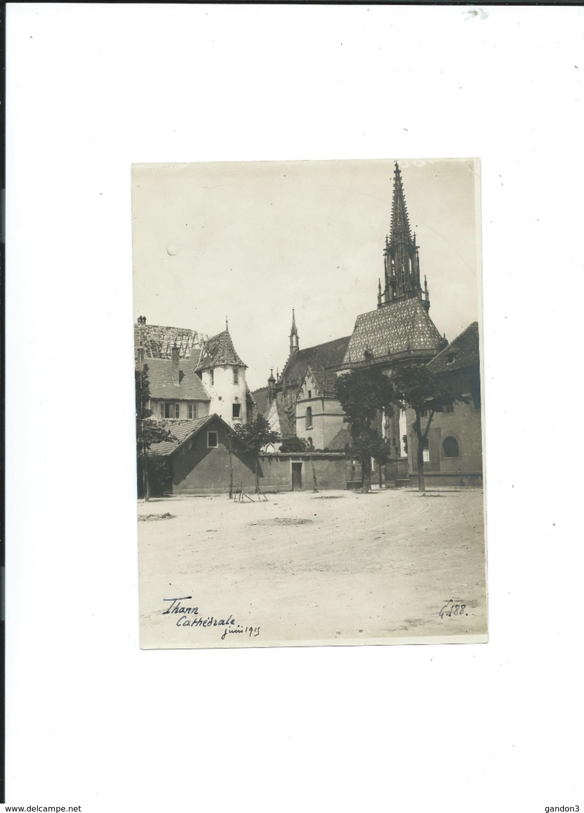 Beau  LOT De 29  PHOTOGRAPHIES  Originales  De   THANN  (Haut-Rhin)  Prisent  Pendant  La 1ère  Guerre En 1915 - Thann