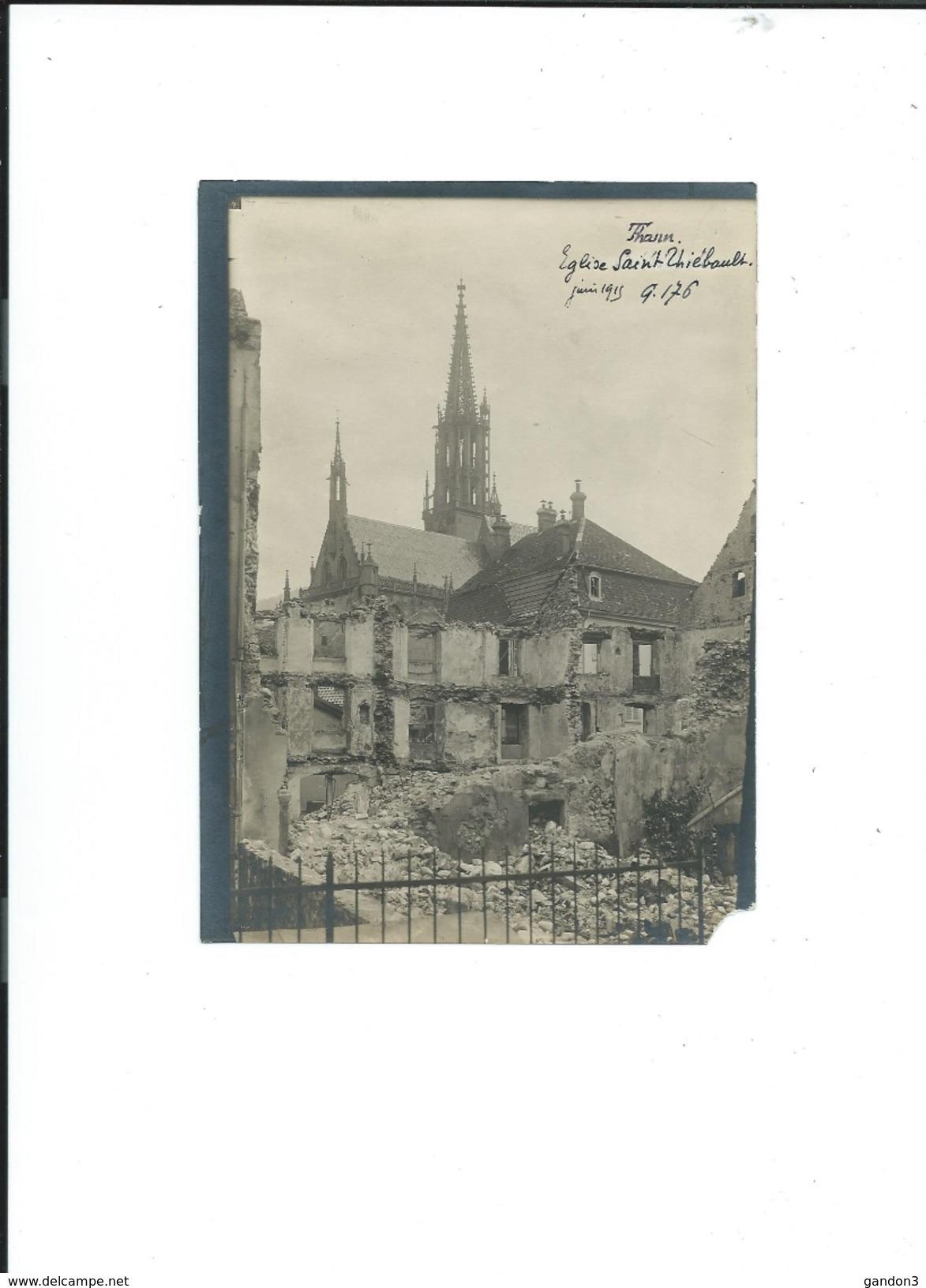 Beau  LOT De 29  PHOTOGRAPHIES  Originales  De   THANN  (Haut-Rhin)  Prisent  Pendant  La 1ère  Guerre En 1915,  Datées - Photos