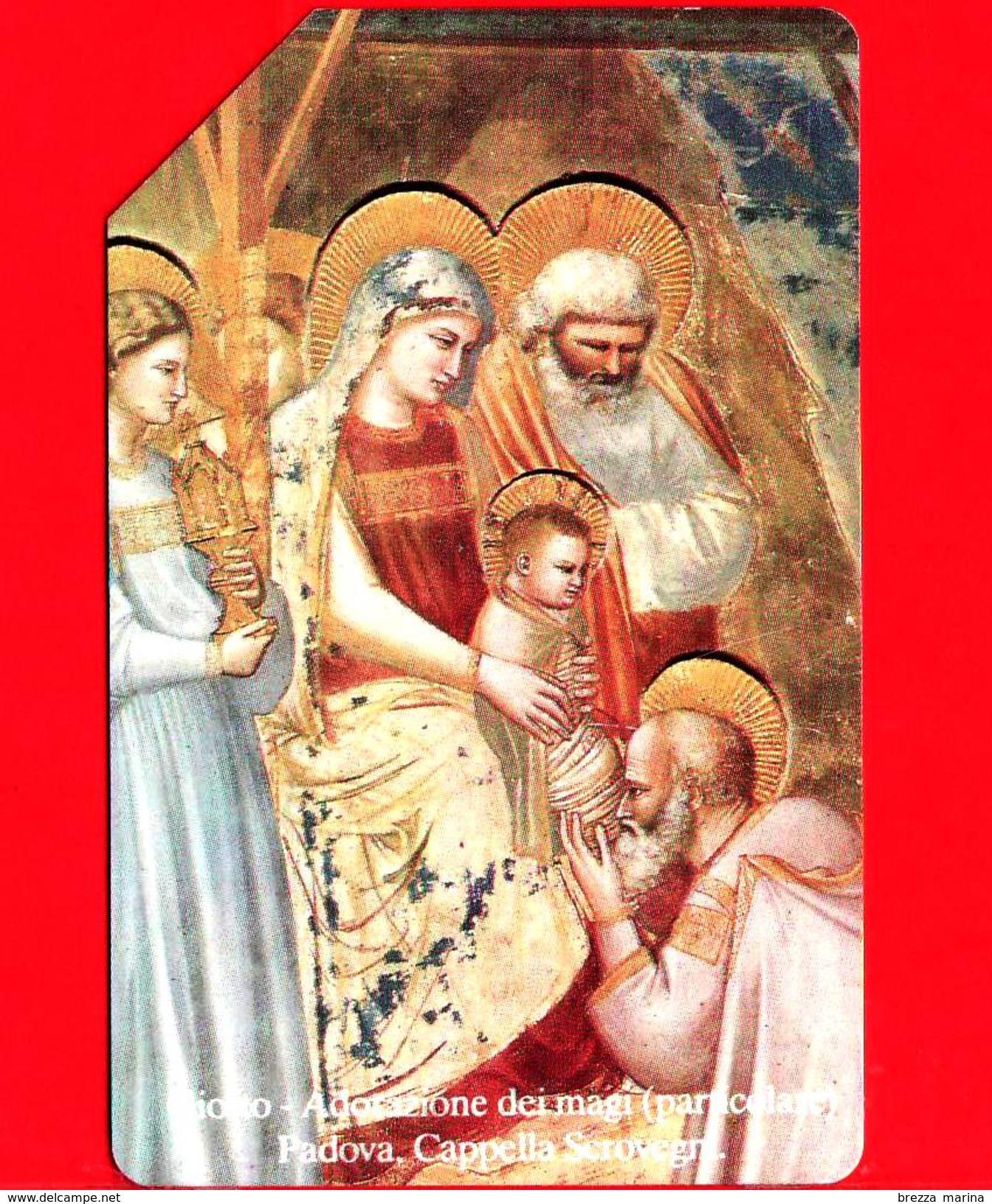 ITALIA - Scheda Telefonica - SIP - Usata - Natale 1991 - Giotto - C&C 2246 - Golden 189 - Ocr 17 - Italia
