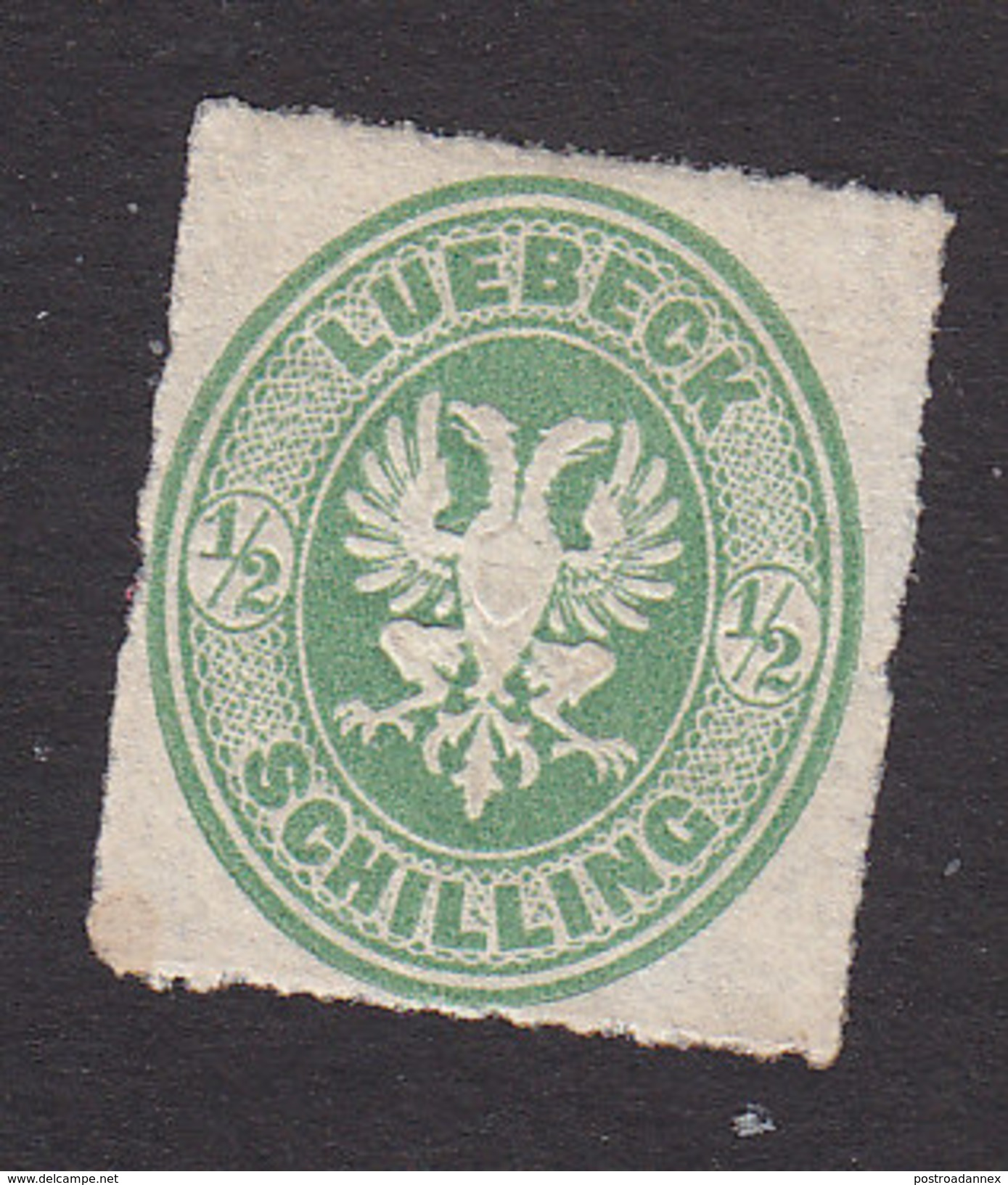 Lubeck, Scott #8, Mint Hinged, Coat Of Arms, Issued 1863 - Lubeck