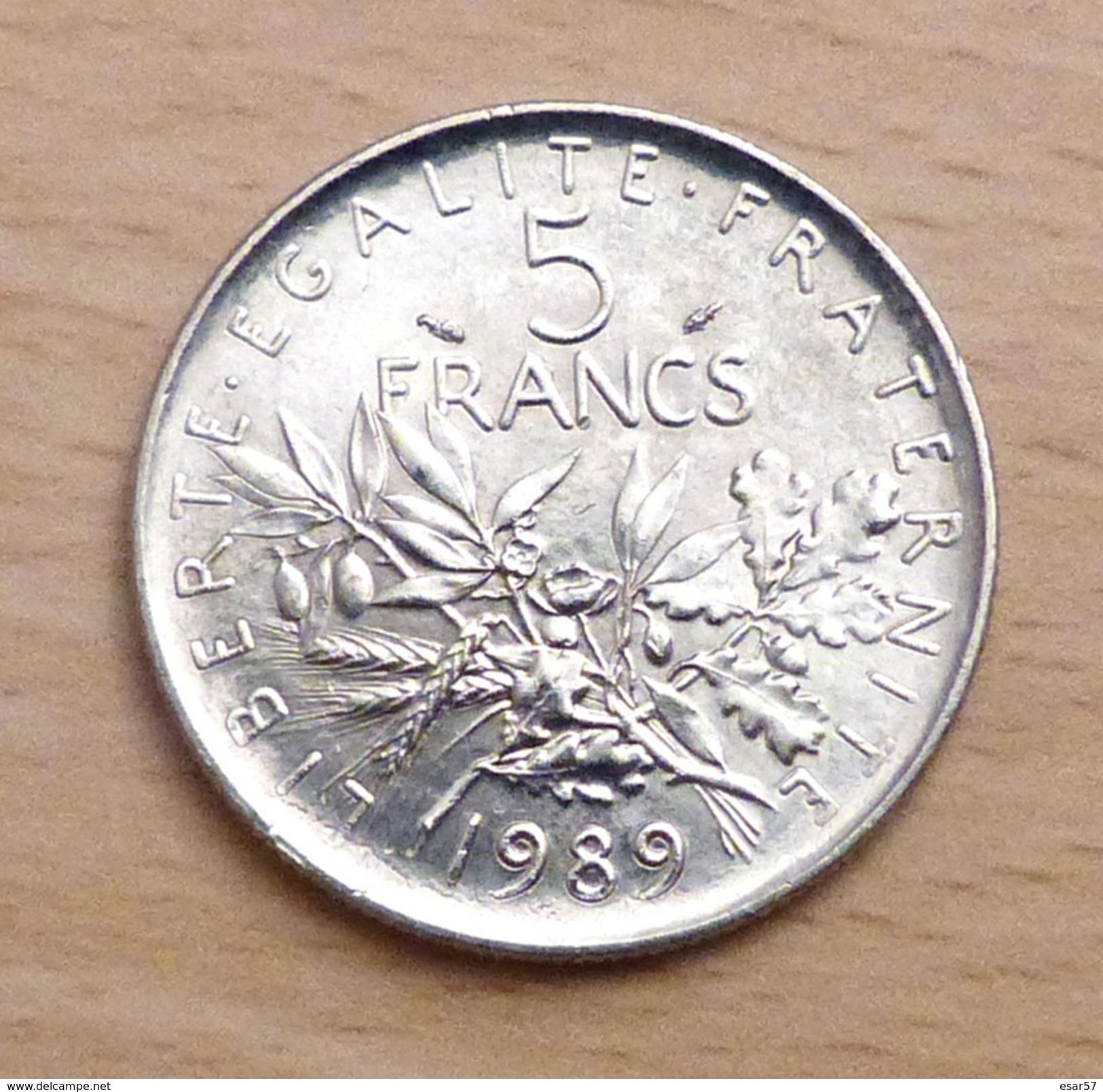 5 FRANCS SEMEUSE 1989 SPL - France