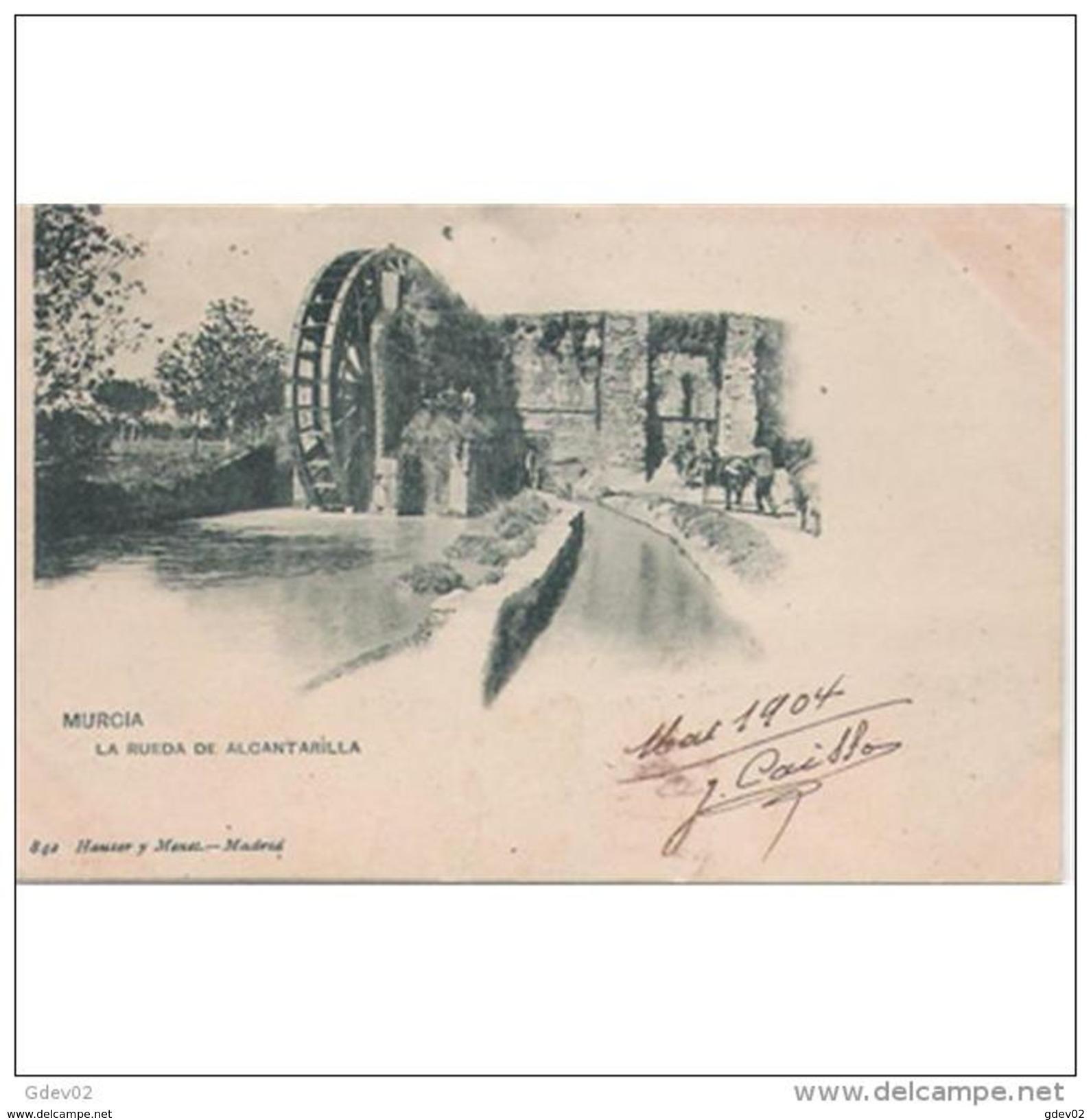 MCATP9539-LFTMD2154TARMDA.Tarjeta Postal DE MURCIA.Edificios,arboles,RUEDA DE MOLINO DE ALCANTARILLA.CCLD - Molinos De Agua