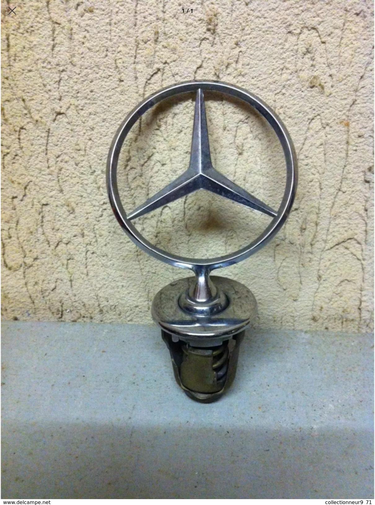 Ancien Bouchon De Radiateur Mercedes Collection Deco Garage - Voitures