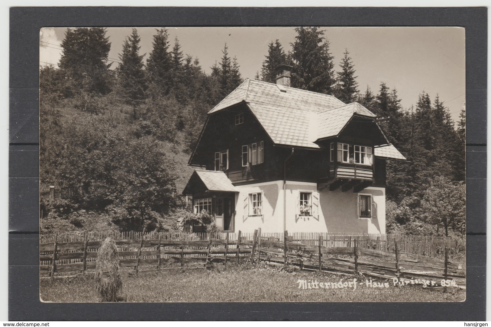STM526 ANSICHTSKARTE MITTERNDORF Haus PÜRINGER  UNGEBAUCHT - Österreich