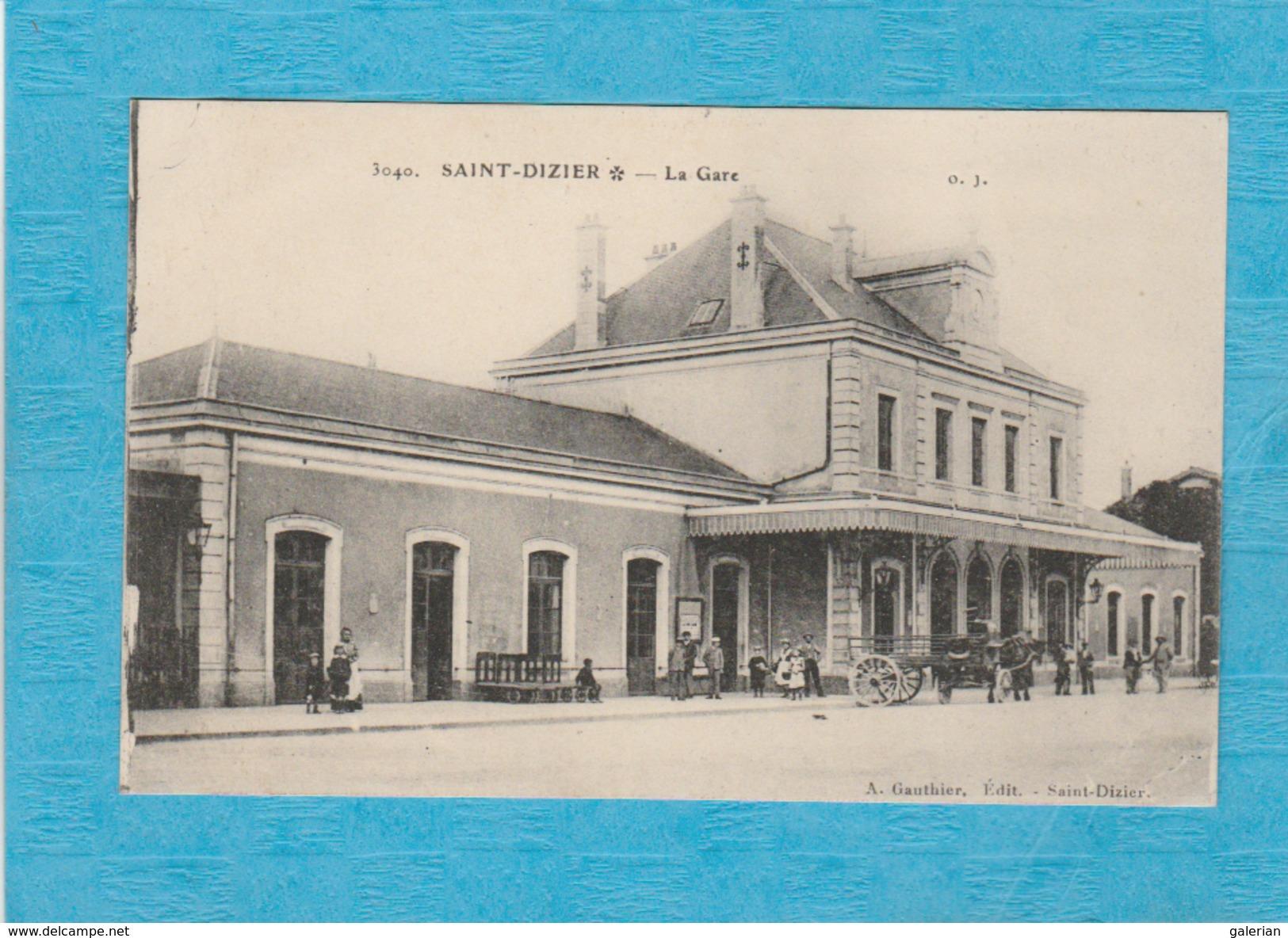 Saint-Dizier. - La Gare. - Attelage. - Saint Dizier