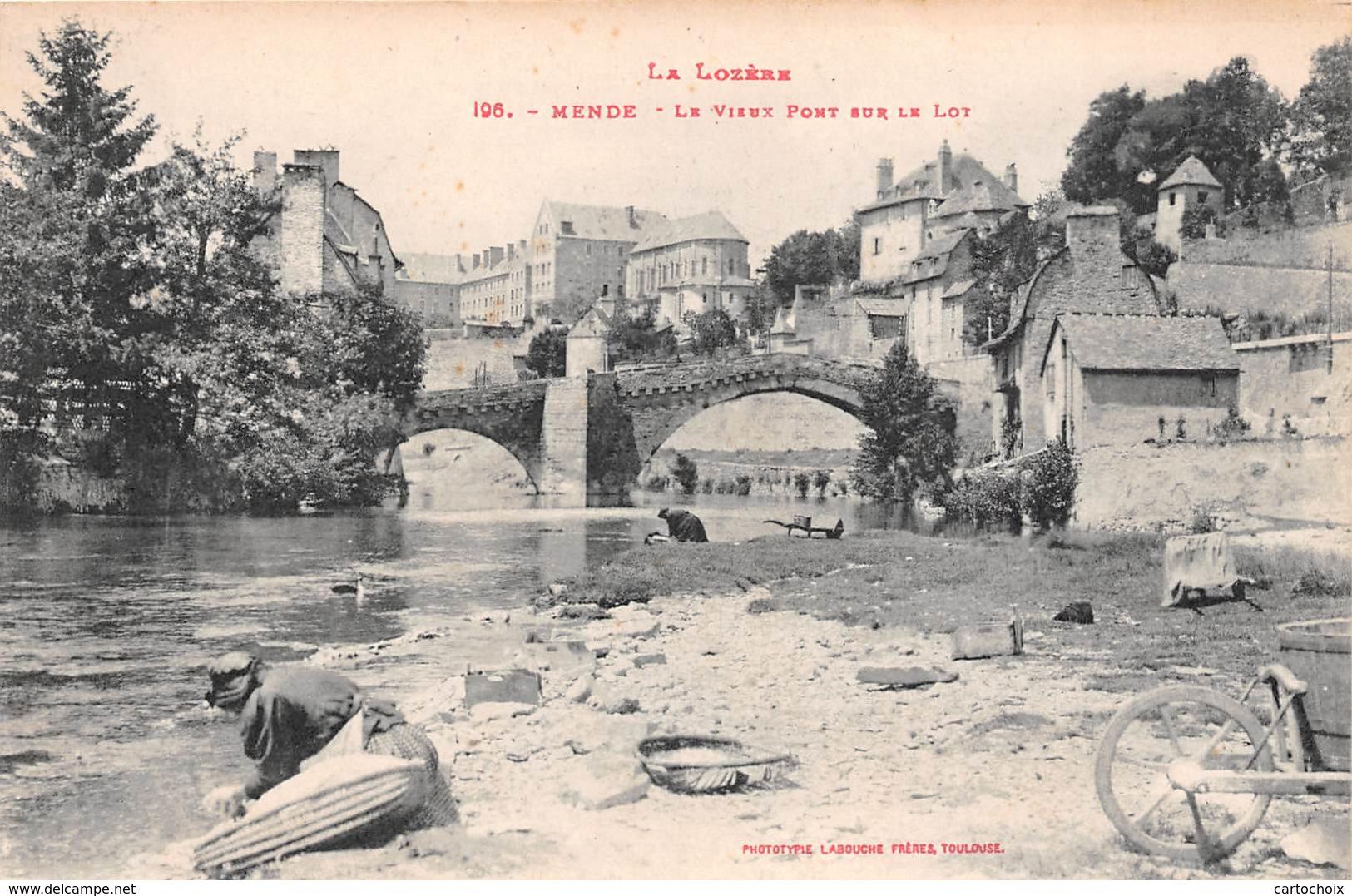 48 - Mende - Le Vieux Pont Sur Le Lot - Mende