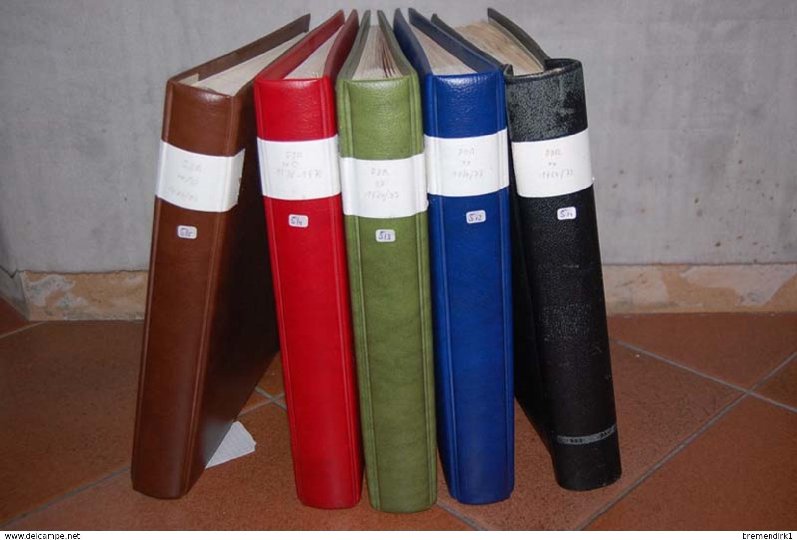 Fast 20 Kg DDR - Sammlungen Gestempelt/postfrisch In 5 Vordruckalben (hoher Neupreis Der Alben), 282 Bilder  ....111 (0) - Lots & Kiloware (min. 1000 Stück)
