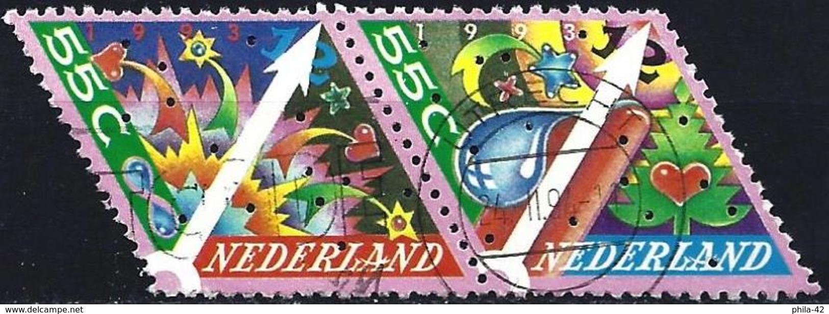 Netherlands 1993 - Stamp For Christmas ( Mi 1496/97 - YT 1459/60 ) - Oblitérés