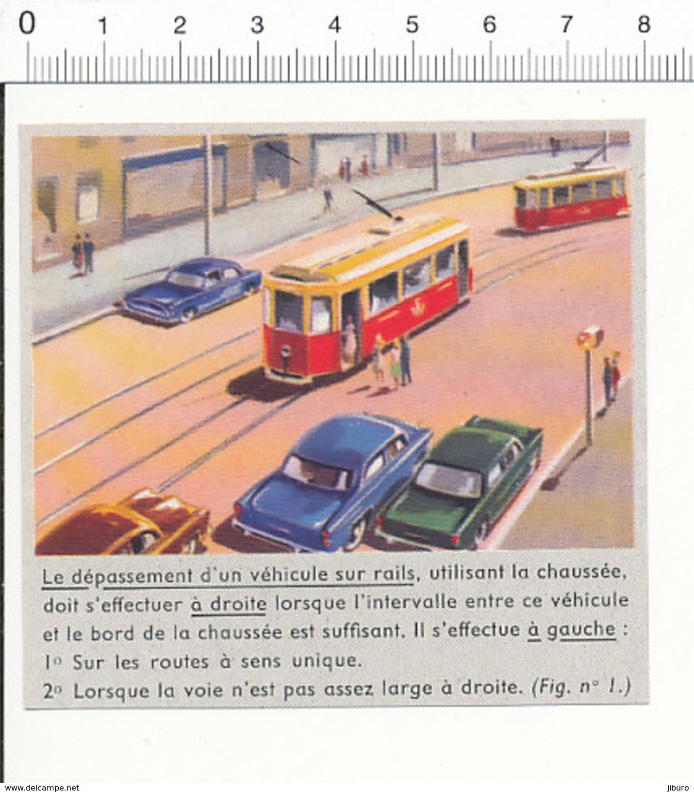 Image Dépassement D'un Véhicule Su Rail Tramway   // IM 5/90 - Old Paper