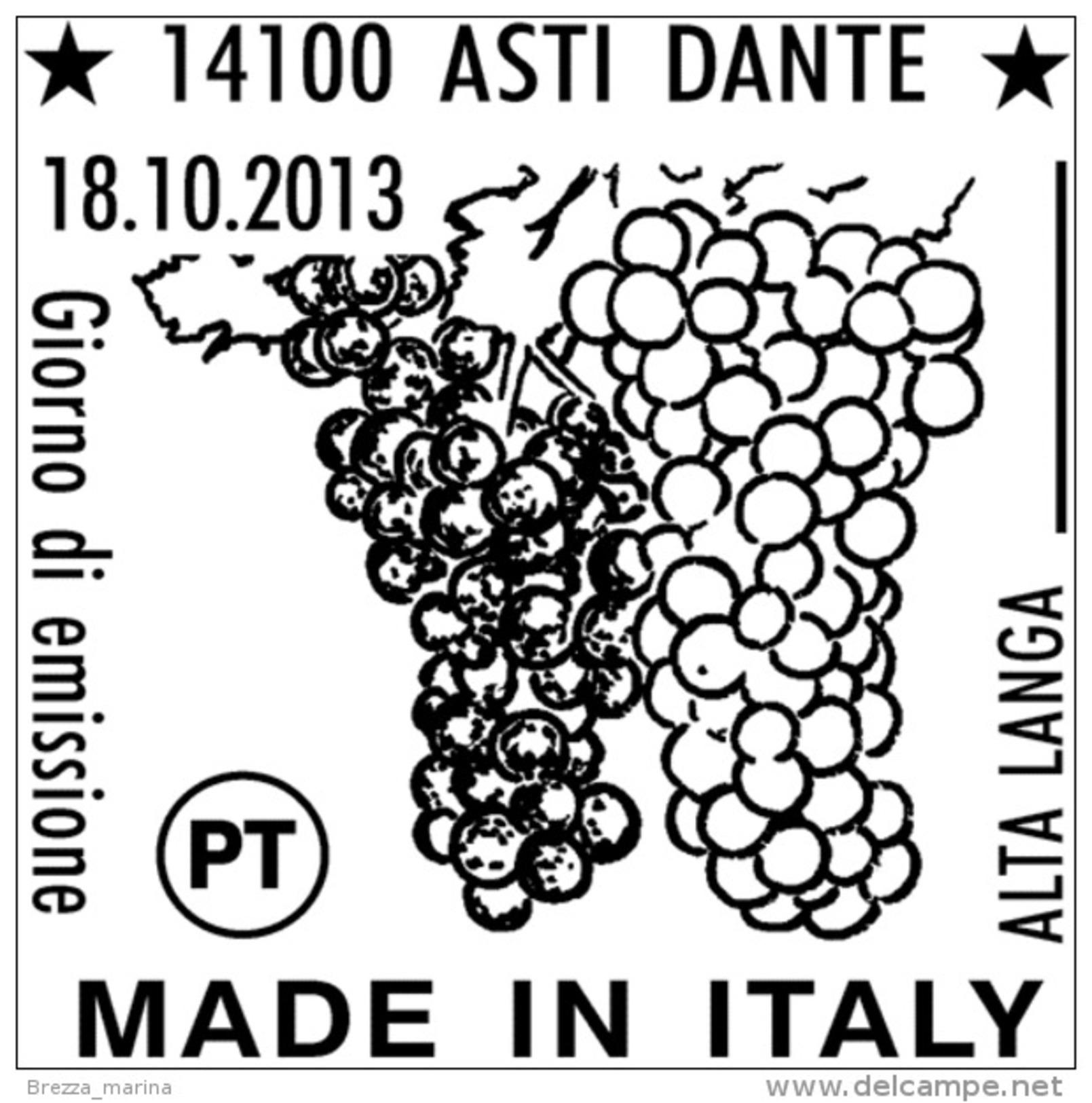 ITALIA - Usato - 2013 - Made In Italy: Vini DOCG - 0,70 € - Alta Langa - 6. 1946-.. Repubblica