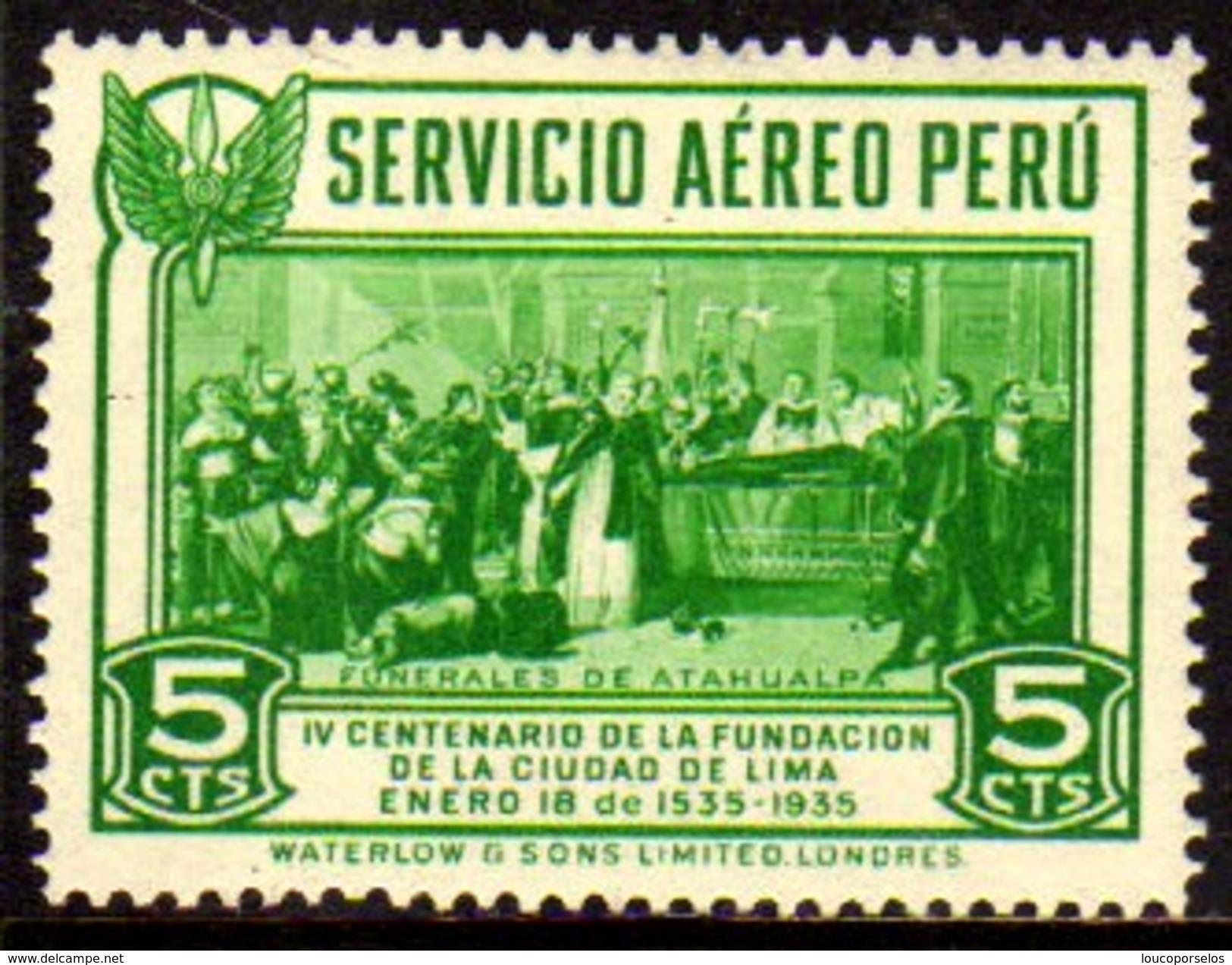 07336 Peru Aéreo 6 Funeral De Atahualpa Nn - Peru