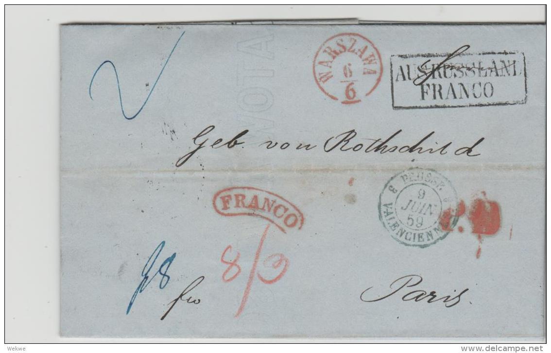 Pol199 / / - POLEN -Königreich 1858-1865, Rothschild Korrespondenz, Aus Russland Franco, über Berlin Nach Paris - ....-1919 Provisional Government