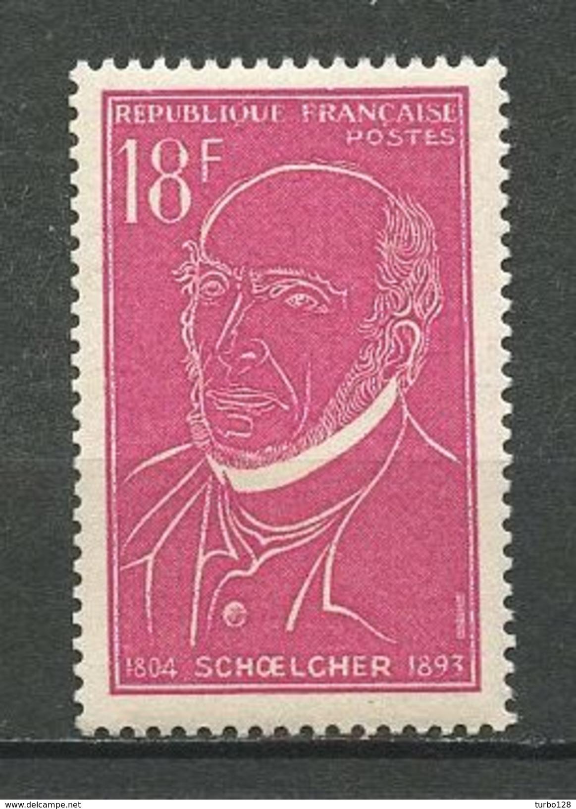 FRANCE 1957 N° 1092 ** Neuf MNH Superbe Cote 0,80 € Victor Schoelcher Politique Fir Abolir L'esclavage - France