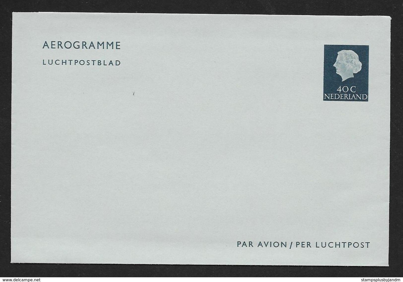 NETHERLANDS Aerogramme 40c Queen C1950s-1960s Unused! STK#X21171 - Postal Stationery
