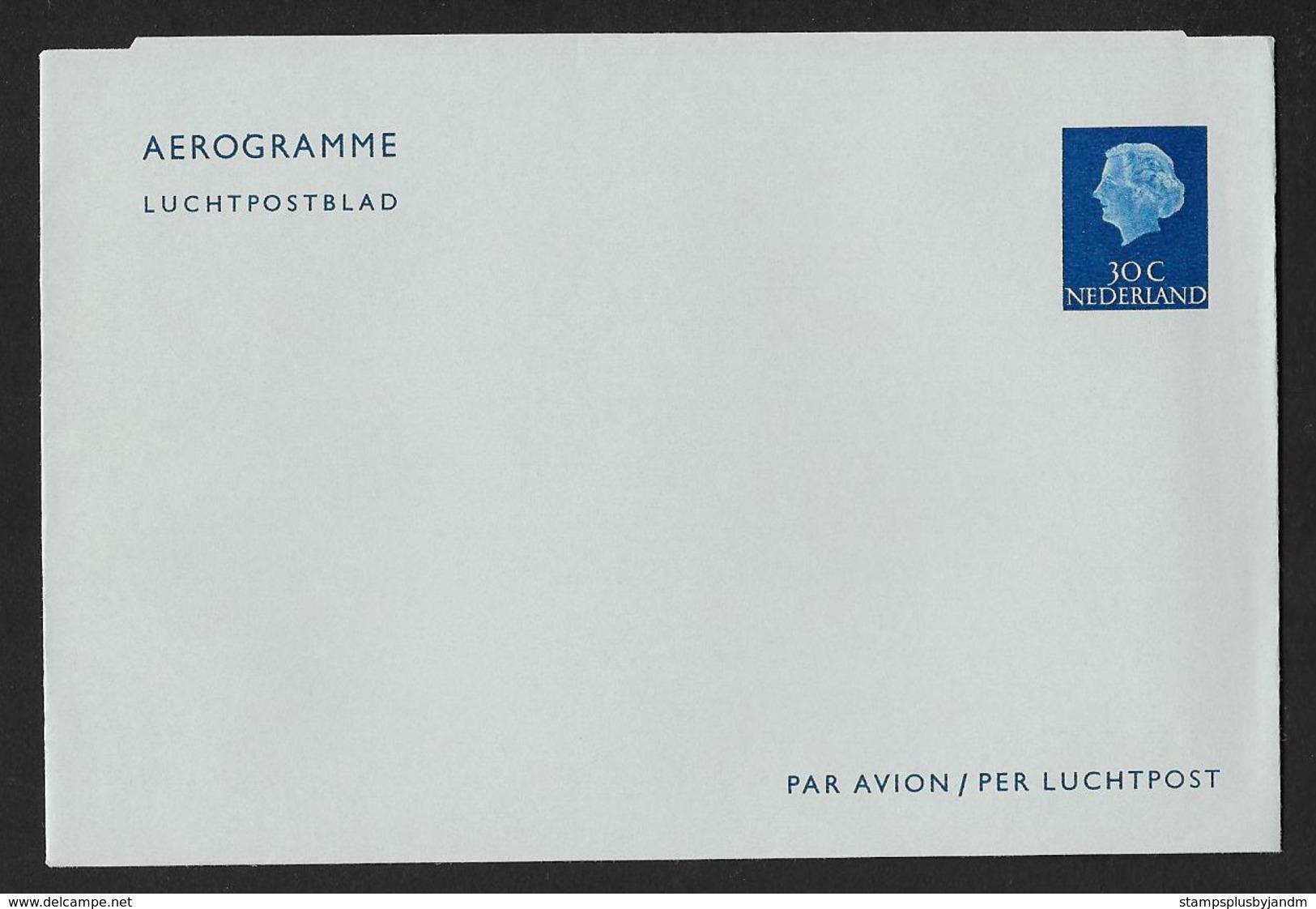 NETHERLANDS Aerogramme 30c Queen C1950s-1960s Unused! STK#X21172 - Postal Stationery