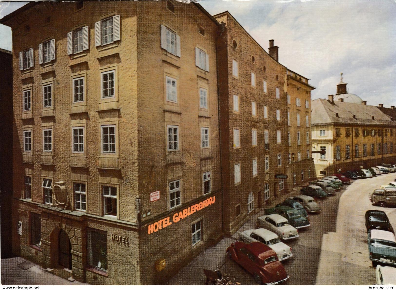 AK Salzburg: Hotel -Restaurant GABLERBRÄU - Karte Gel.1967 - Salzburg Stadt