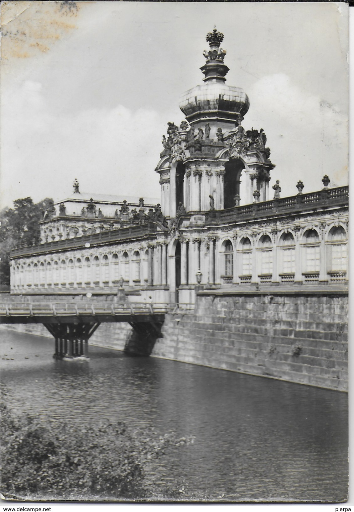 GERMANIA - DRESDA - ZWINGER - VIAGGIATA 1980 - AFFRANCATURA D.D.R. NON TIMBRATA - Dresden