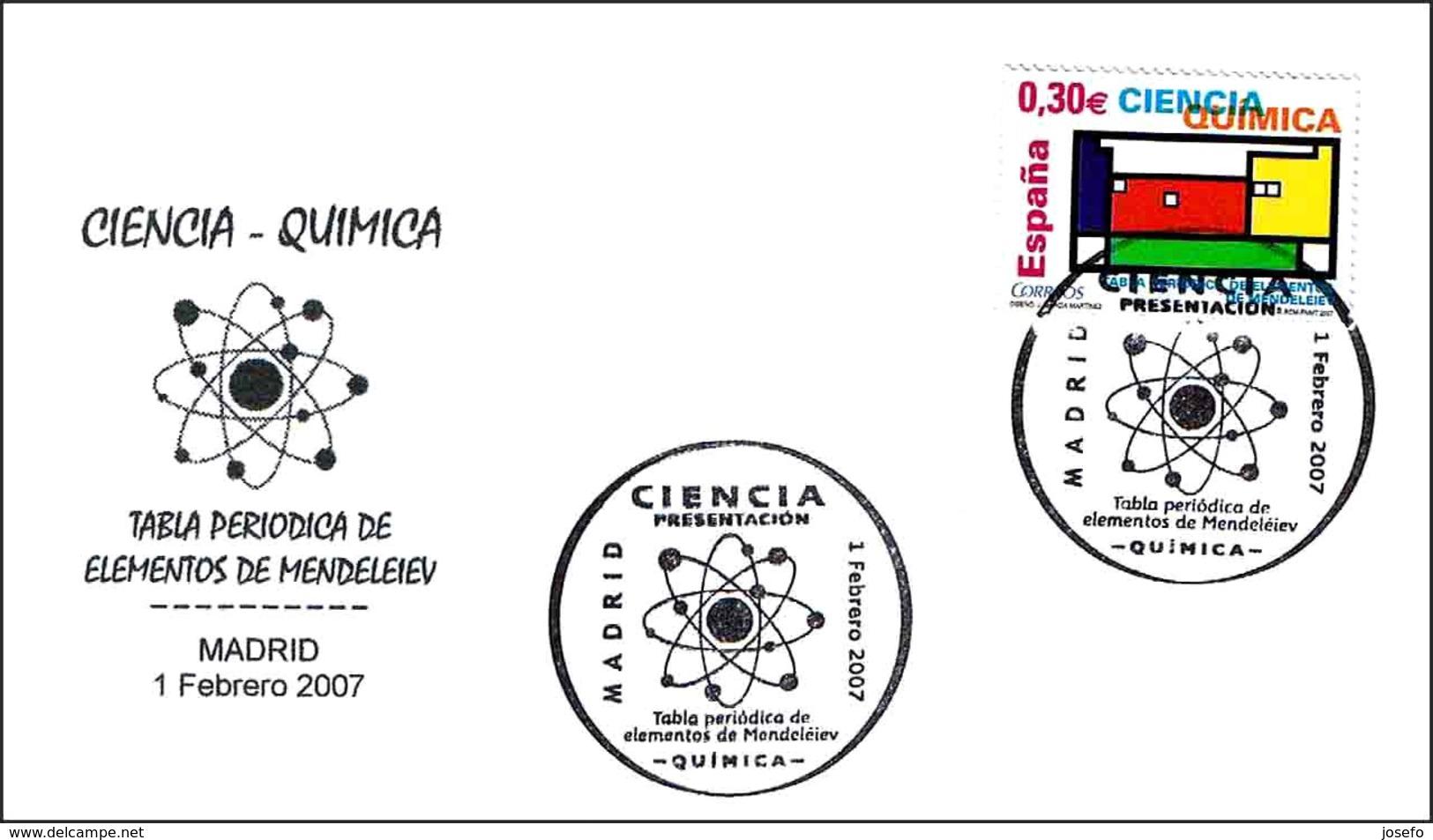 TABLA PERIODICA DE MENDELEIEV. QUIMICA - CHEMISTRY. Madrid 2007 - Química