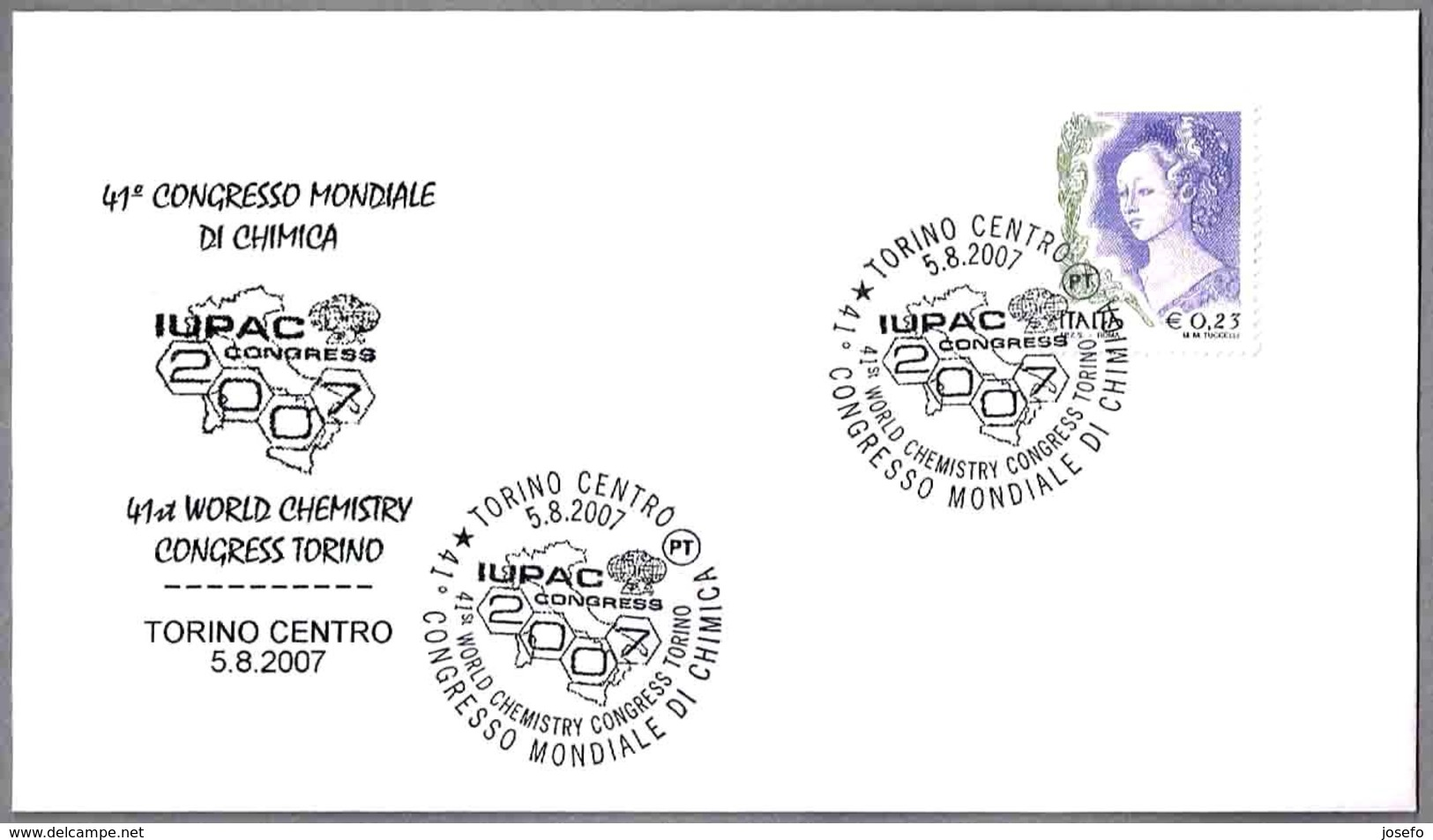 CONGRESO IUPAC. Quimica - Chemistry. Torino 2007 - Química