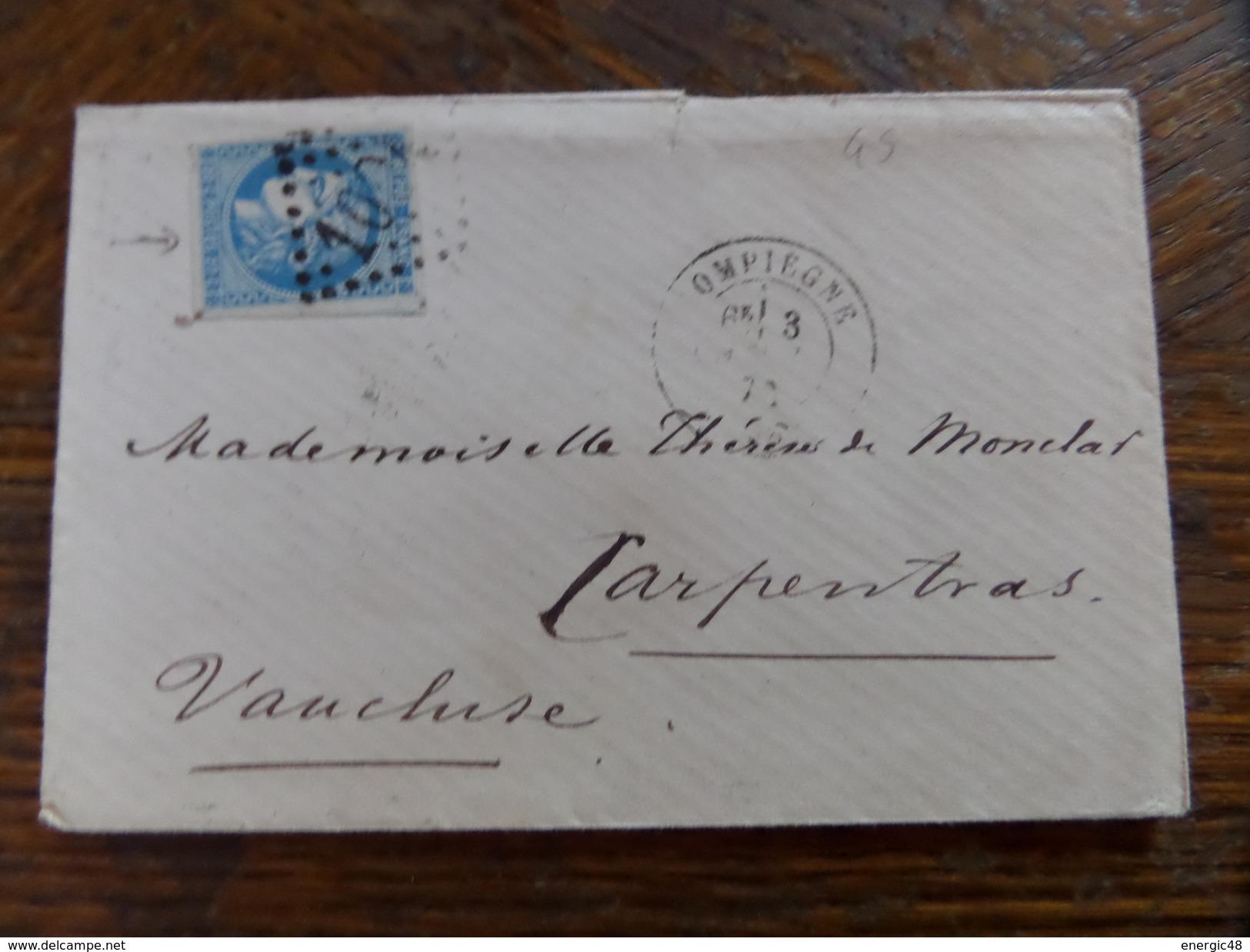 Lot Du 05.04.17_LAC Avec N°45,compiegne,prix Depart 1€!! Nuance Et Planchage Variétés - 1870 Bordeaux Printing