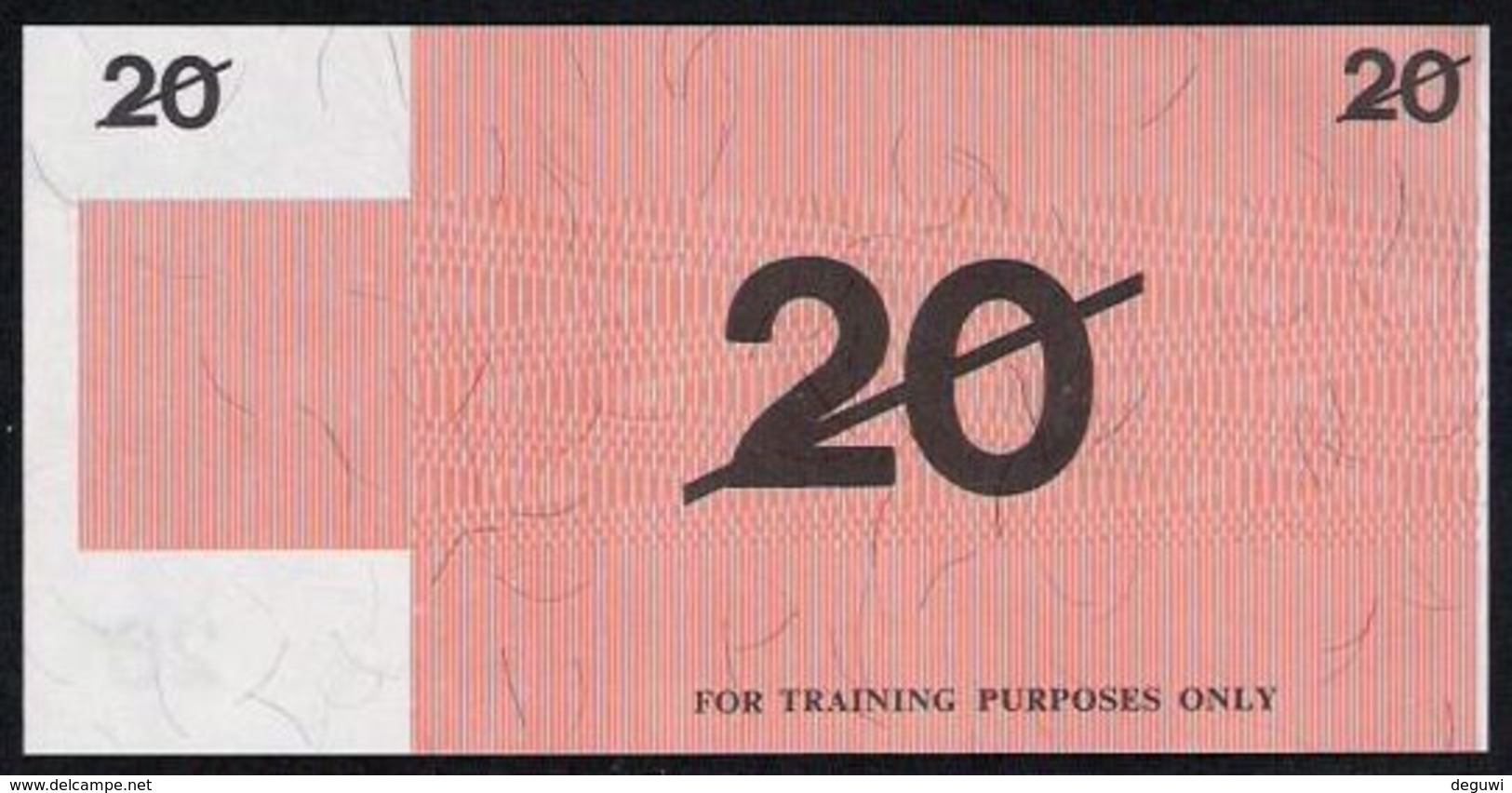 """Test Note """"BANK OF AUSTRALIA"""" 20 Units, Testnote, RRRR, UNC, Special Paper - Others"""